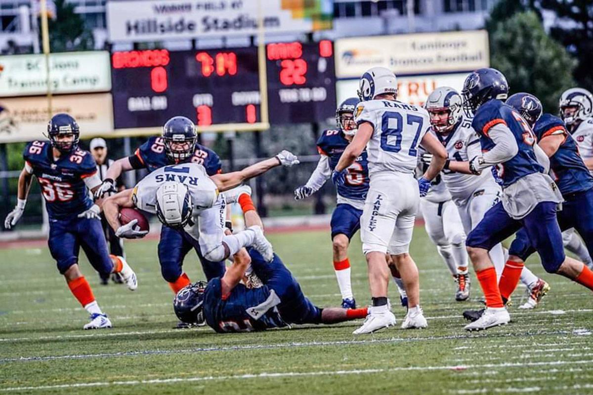 The Langley Rams recently defeated the Kamloops Broncos. (photo Jim Motokado)