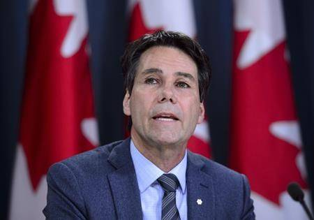 Eric Hoskins, chair of the Advisory Council on the Implementation of National Pharmacare, speaks during a news conference at the National Press Theatre in Ottawa on Wednesday, June 12, 2019. THE CANADIAN PRESS/Sean Kilpatrick