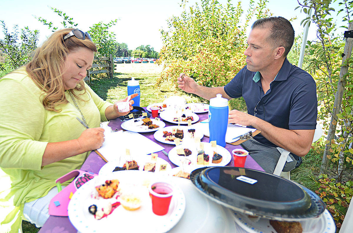 Judges taste every blackberry dishes, but the public also gets to sample a handful of dishes and vote on people's choice. (Langley Advance Times files)