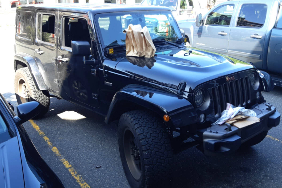 This 2016 Jeep Wrangler was seized by police during a drug bust on Wednesday (Aug. 14) in Abbotsford. (Photo: Abbotsford Police Department)