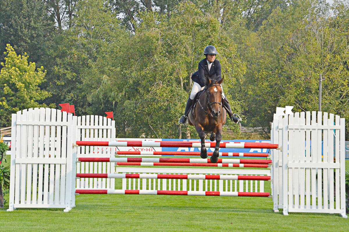 A new course is created each year for the competitors at the Longines FEI Jumping World Cup™ Vancouver. (Langley Advance Times files)