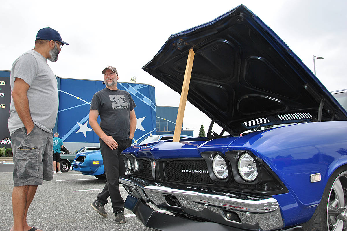 VIDEO: Caffeine and Gasoline rolls into Langley Saturday morning
