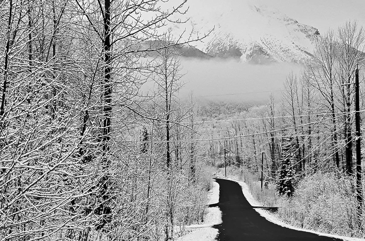 Snowfall seen on April 27, 2019, near Smithers, B.C. (Black Press Media files)