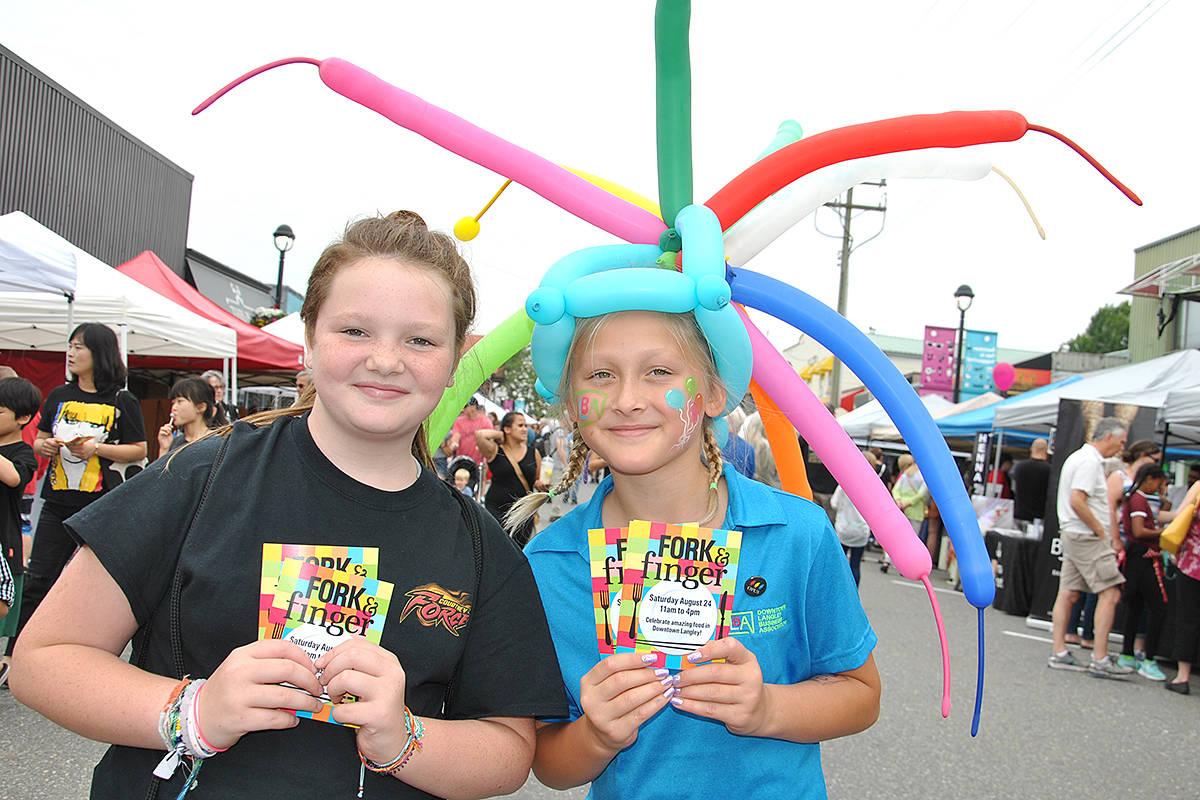 While organizers noticed a real mix in age among this year's Arts Alive spectators, it was still many of joyous young faces that brought smiles to them. (Roxanne Hooper/Langley Advance Times)
