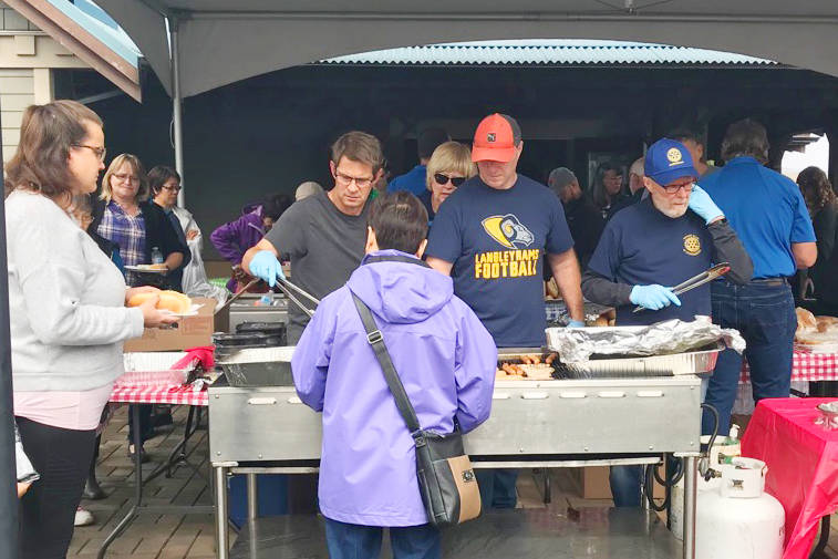 Aldergrove Rotary Club members will be at the grill from 10 a.m. to 3 p.m., serving up smokies, pop and chips by donation in support of Terry Fox Foundation. Other tasty favourites include Veronica's Perogies, plus food and beverage samples, including wine, beer and cider from KIS Consulting!