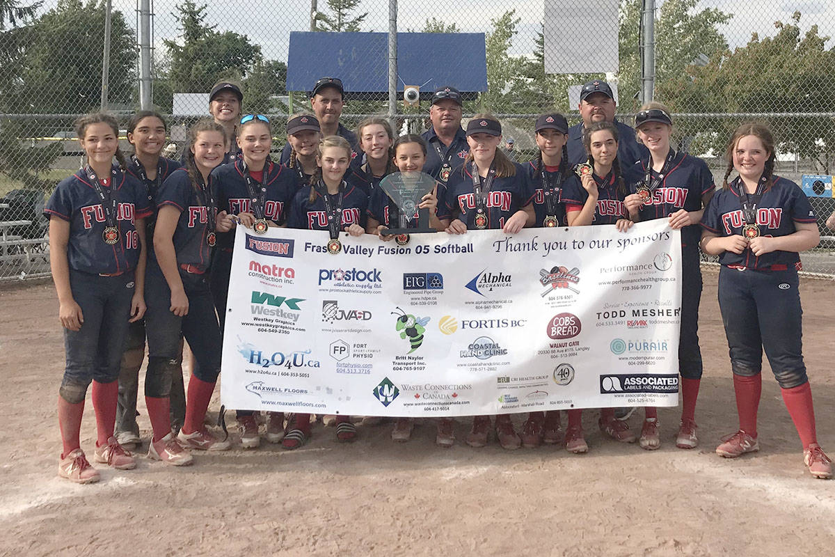 The Fraser Valley Fusion 2005 returned from the U14A Canadian Fastpitch Championship in Quebec with the title of champions. (Photo submitted)