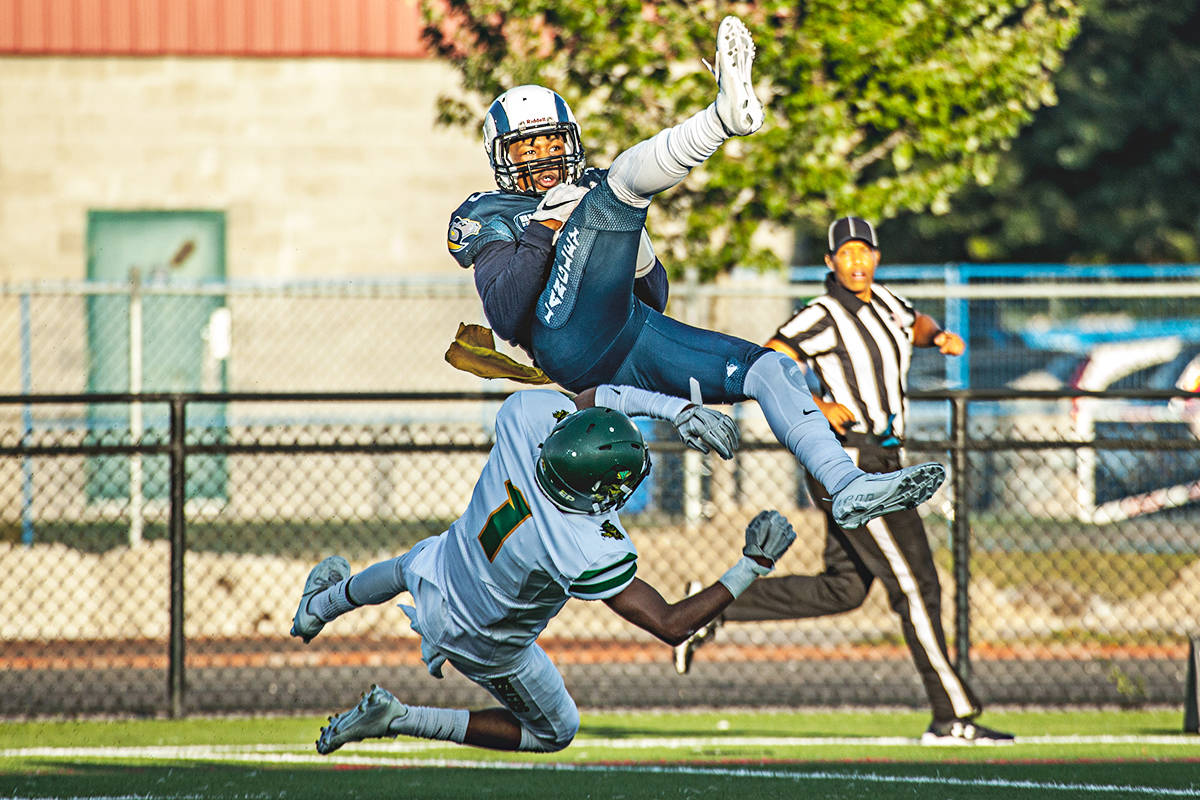 The Langley Rams defeated the Huskers on Saturday. (Adam Marchetti/Special to the Langley Advance Times)