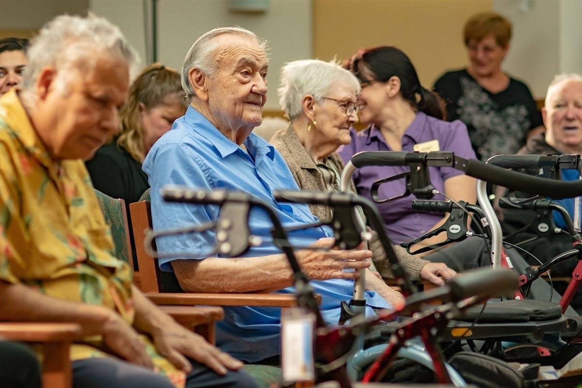 Seniors at a residential care facility in Burnaby B.C., September 2018. (B.C. government)