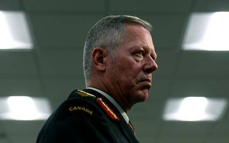 Chief of the Defence Staff Gen. Jonathan Vance speaks to reporters after a change of command ceremony in Ottawa on Thursday, Aug. 22, 2019. THE CANADIAN PRESS/Justin Tang