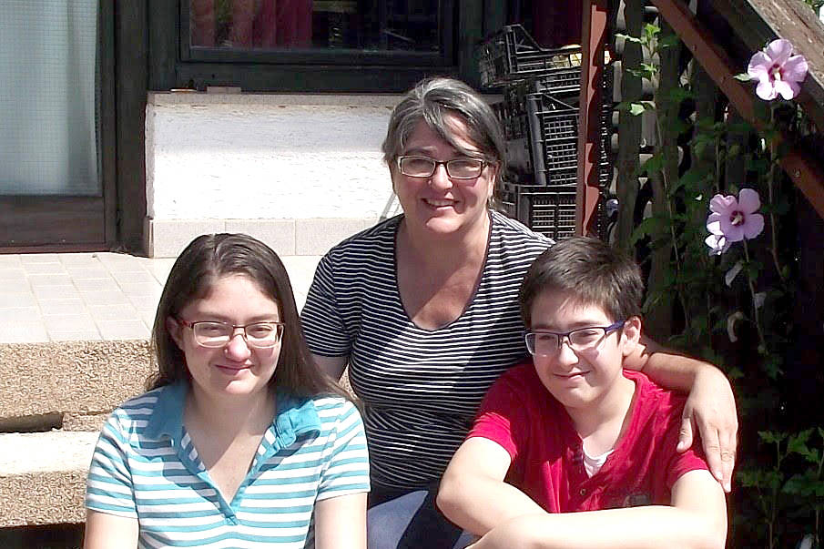 Sue Gauvin, with her children Adriana and Sam, are desperate to return to Canada from Croatia, where they are stranded. (Submitted Photo)