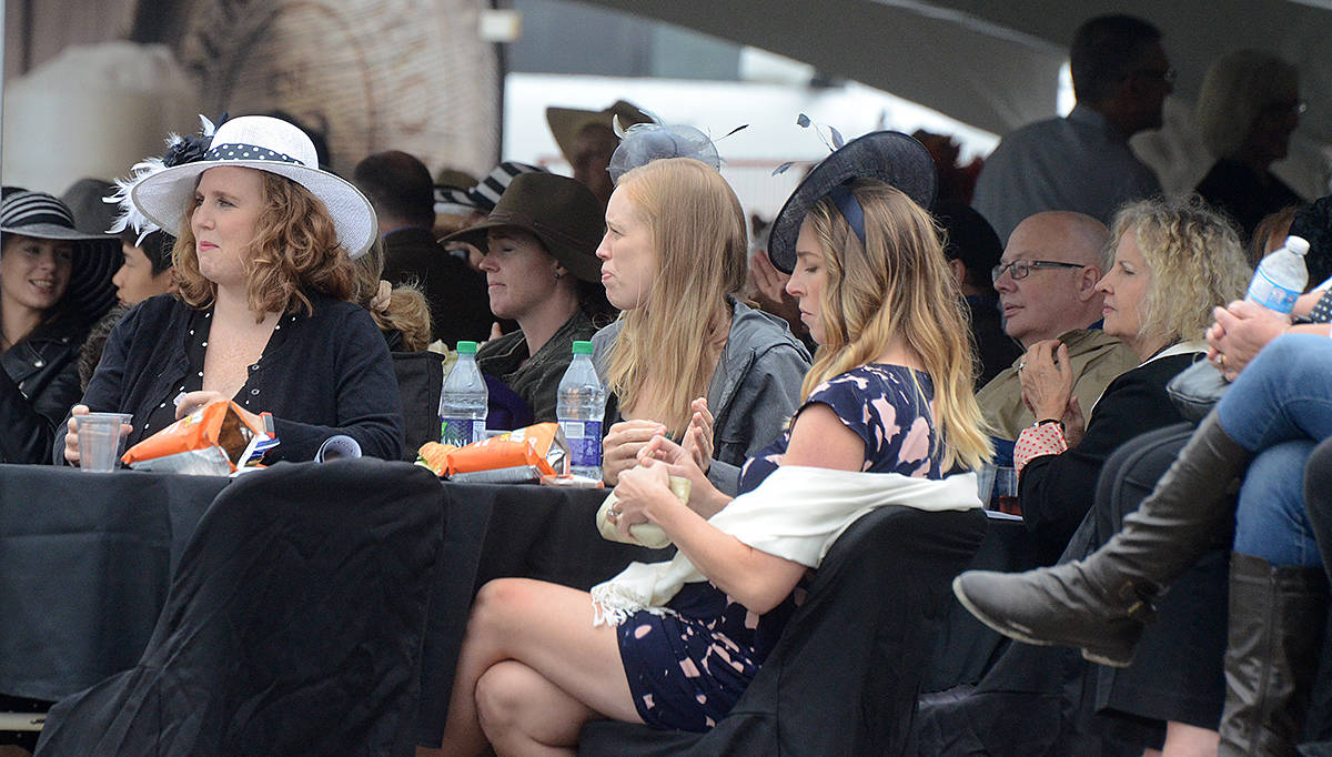 The Rosé Party offers spectators (many often dress up) a front-row, covered seat to view all the jumping action offered at the Longines FEI Jumping World Cup, which happens again this Sunday at Thunderbird Show Park. (Langley Advance Times files)