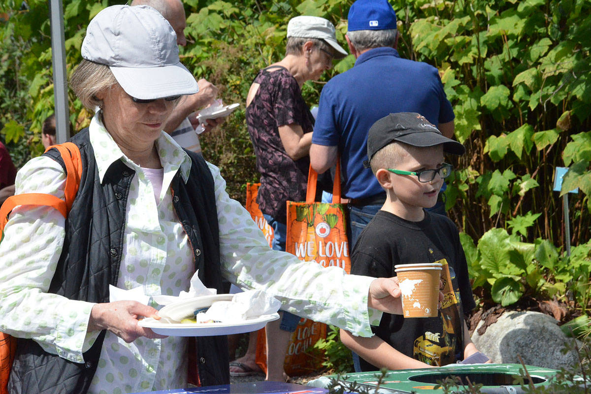 LEPS provided recycling and composting resources at the annual Blackberry Bake-off on Aug. 22. (Heather Colpitts/Langley Advance Times)