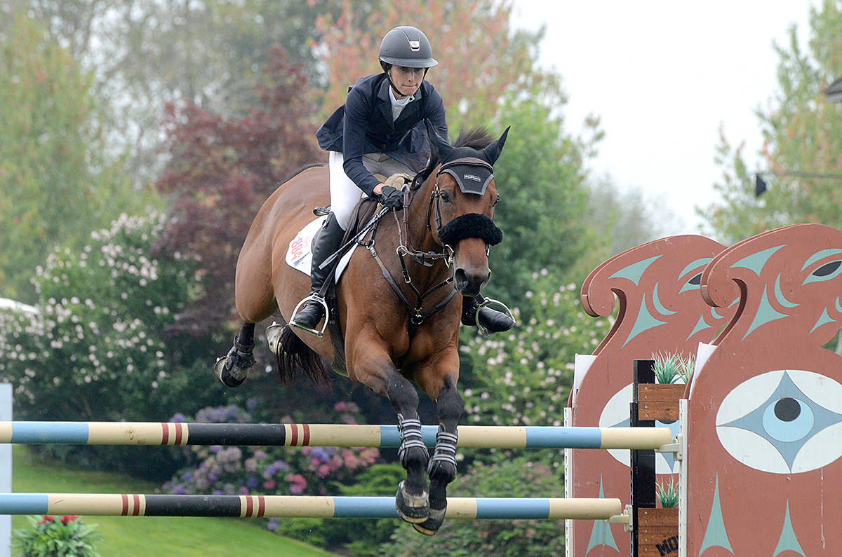 A new course is created each year for the competitors in the Longines FEI Jumping World Cup – Vancouver. It's an annual event that happens this Sunday at tbird in Langley. (Langley Advance Times files)