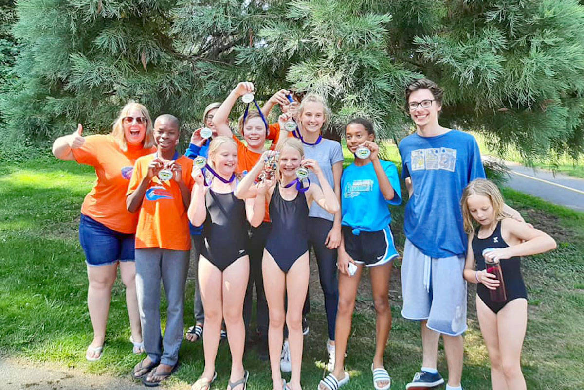 Eight swimmers from the Aldergrove Sea Monkeys competed at regionals this month. (Submitted photo)
