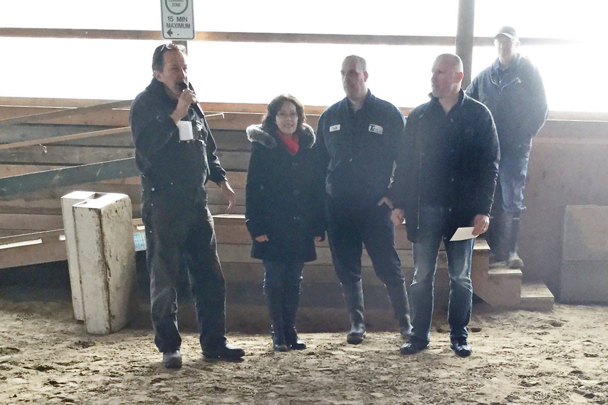 The Valley Therapeutic Equestrian Association (VTEA) hosted Langley Good Times Cruise-In board members at its rural Langley facility when they made a donation a few yaers back. (Langley Good Times Cruise-In/Special to the Langley Advance Times)