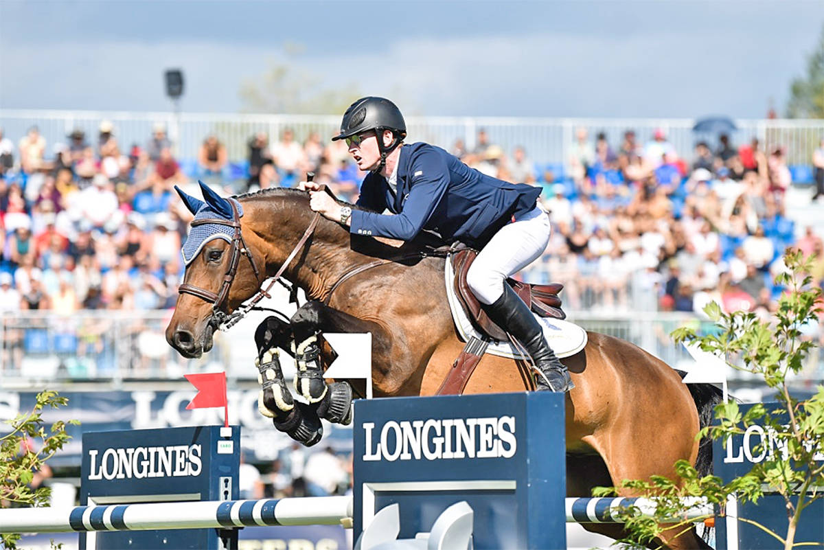 Daniel Coyle and Farrel in action during the World Cup event at Thunderbird Show Park. (MOI Photography/tbird)