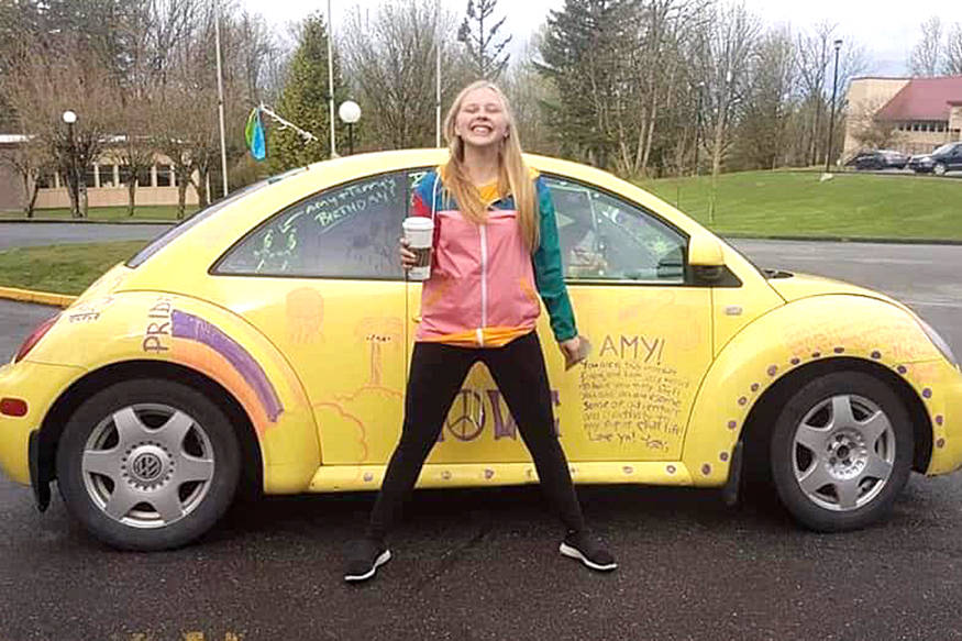 Amy Anonby, who was last seen driving a yellow Volkswagen Beetle on Sunday, Aug. 25 on her way to 100 Mile House from Vernon, has been found. (Submitted Photo)