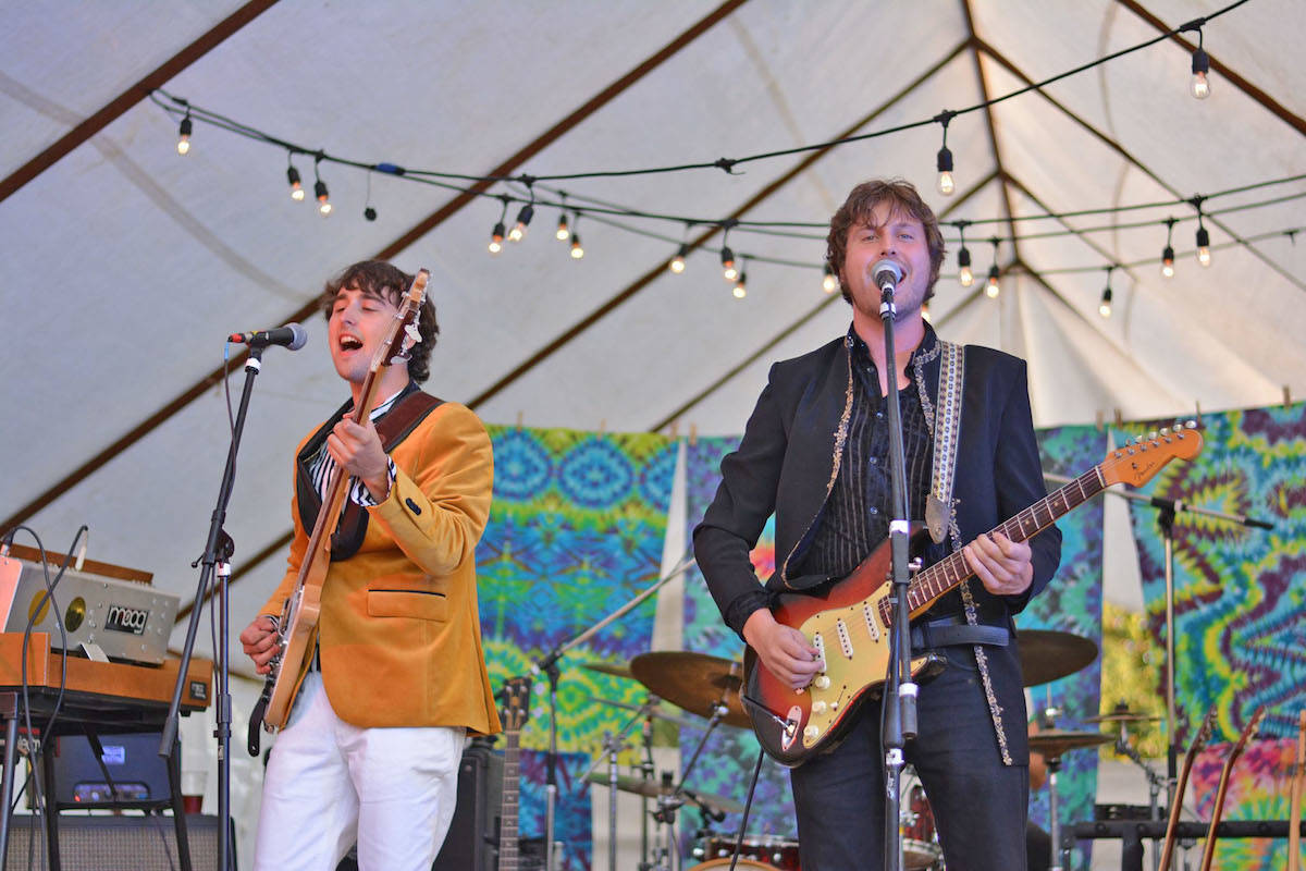 (Krystal Brown photo)                                Psychedelic, funk and rock 'n' roll band Brass Camel, led by guitarist Daniel James, headlined the event. (Krystal Brown photo)