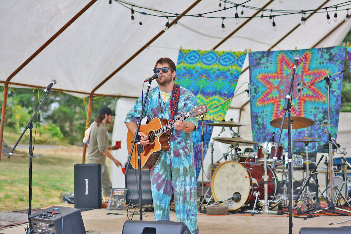 Joel Brown, founder of the fundraiser and musician, entertained the crowds during the festival – which he organized with two of his close friends and the help of many others from the community. (Krystal Brown photo)