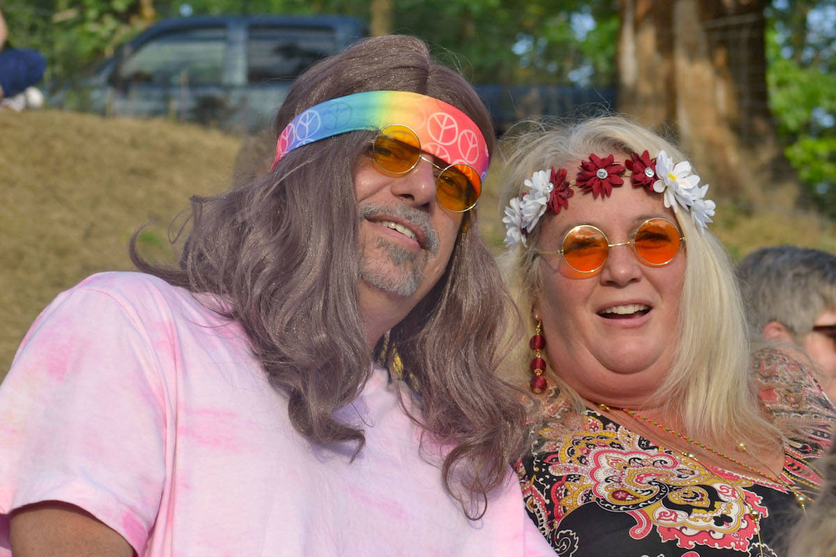 Brookswood's Cal Boyle (left) and Aldergrove resident Maria Virautis (right) dressed up for the cause. (Sarah Grochowski photo)