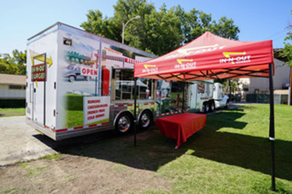 In-N-Out Burger has invested some serious coin into their special trailer (portable kitchen) that will be brought up to Canada next Saturday, Sept. 7, for the first time. (Special to the Langley Advance Times)