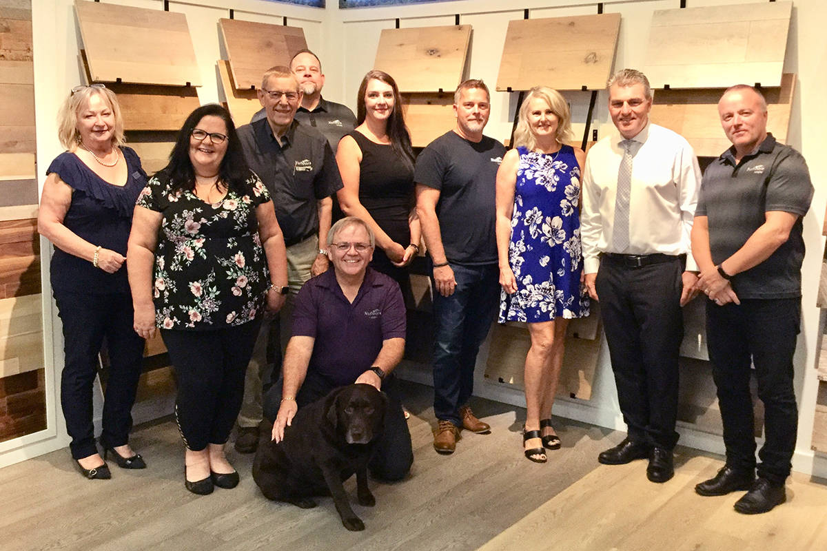 """Langley's Nufloors team hosts its annual fall draw and barbecue this month in support of the Langley Animal Protection Society. Stop in and pick up your raffle tickets, and check out their Stainmaster Platinum products with their """"Pet Protect"""" promise!"""