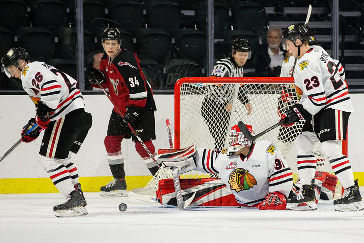 The Portland Winterhawks stretched their preseason point streak to two straight games after losing in overtime against the reigning Western Conference Champion Vancouver Giants. The Giants went on to win 4-3, scoring the lone goal in the shootout round. (Chris Mast/Everett Silvertips)