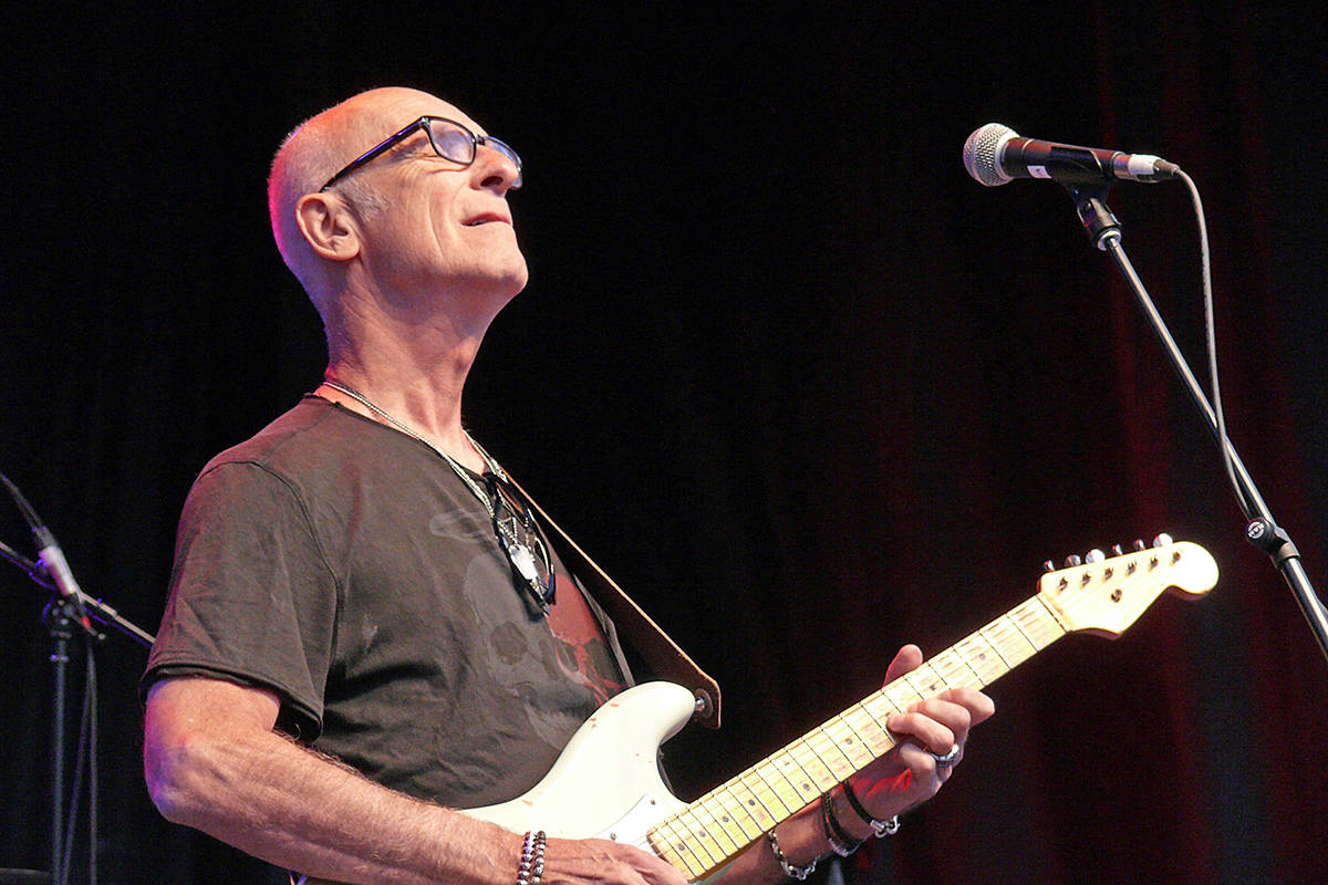 Kim Mitchell took the main stage for day two of the Summerset Music and Arts Festival at historic Fort Langley. (Dan Ferguson/Langley Advance Times)
