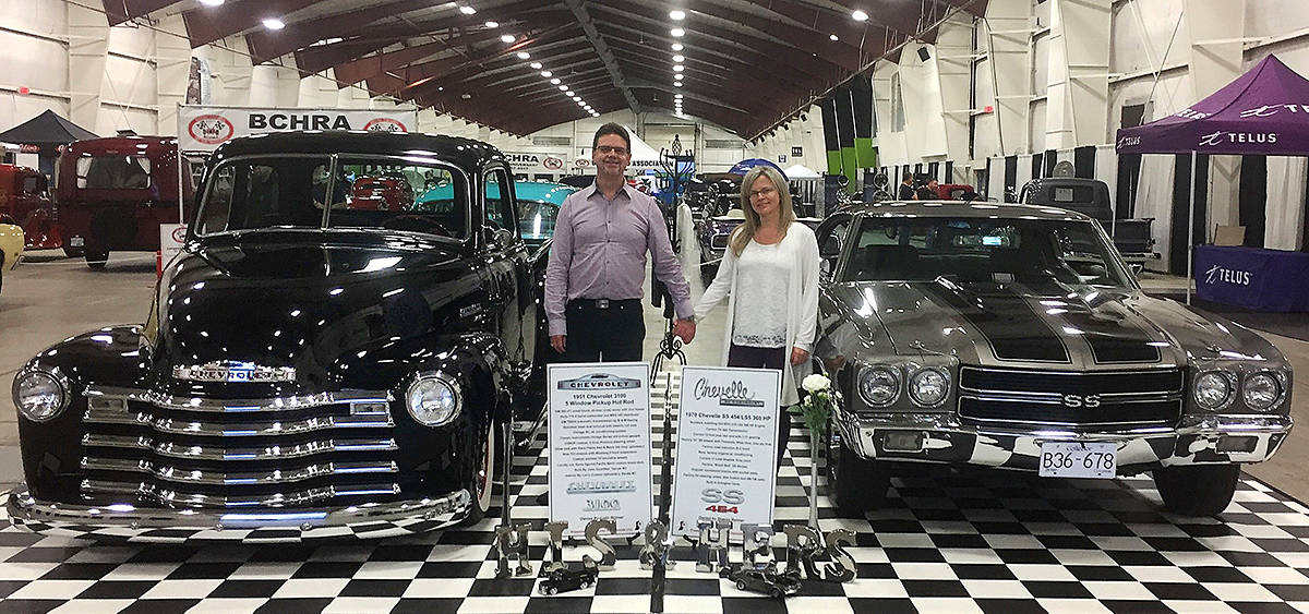 Colin and Sharon Reimer take his 1951 Chevy pickup and her 1970 Chevelle to multiple car shows, including Cruise-In in Aldergrove. (Special to the Langley Advance Times)