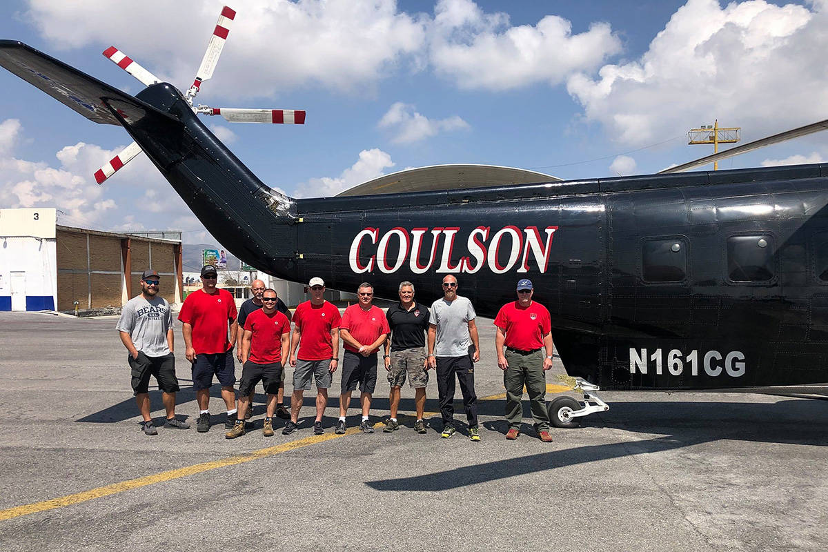 Crew members from Coulson Aviation, a global aviation company based in Port Alberni, B.C., are enroute from Mexico to Bolivia to help fight forest fires in the Amazon. PHOTO COURTESY COULSON AVIATION