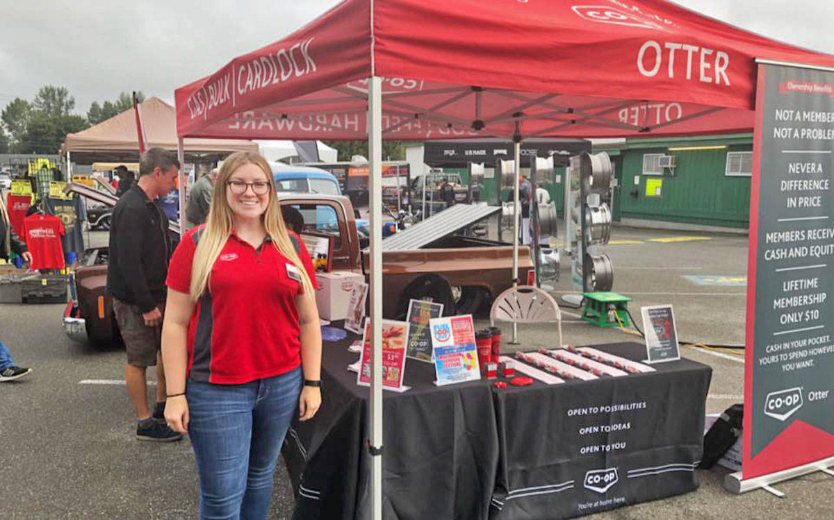Otter Co-op community relations coordinator Katie Pallen, will be on site again this year at the Langley Good Times Cruise-In to talk shop. (Submitted photo)
