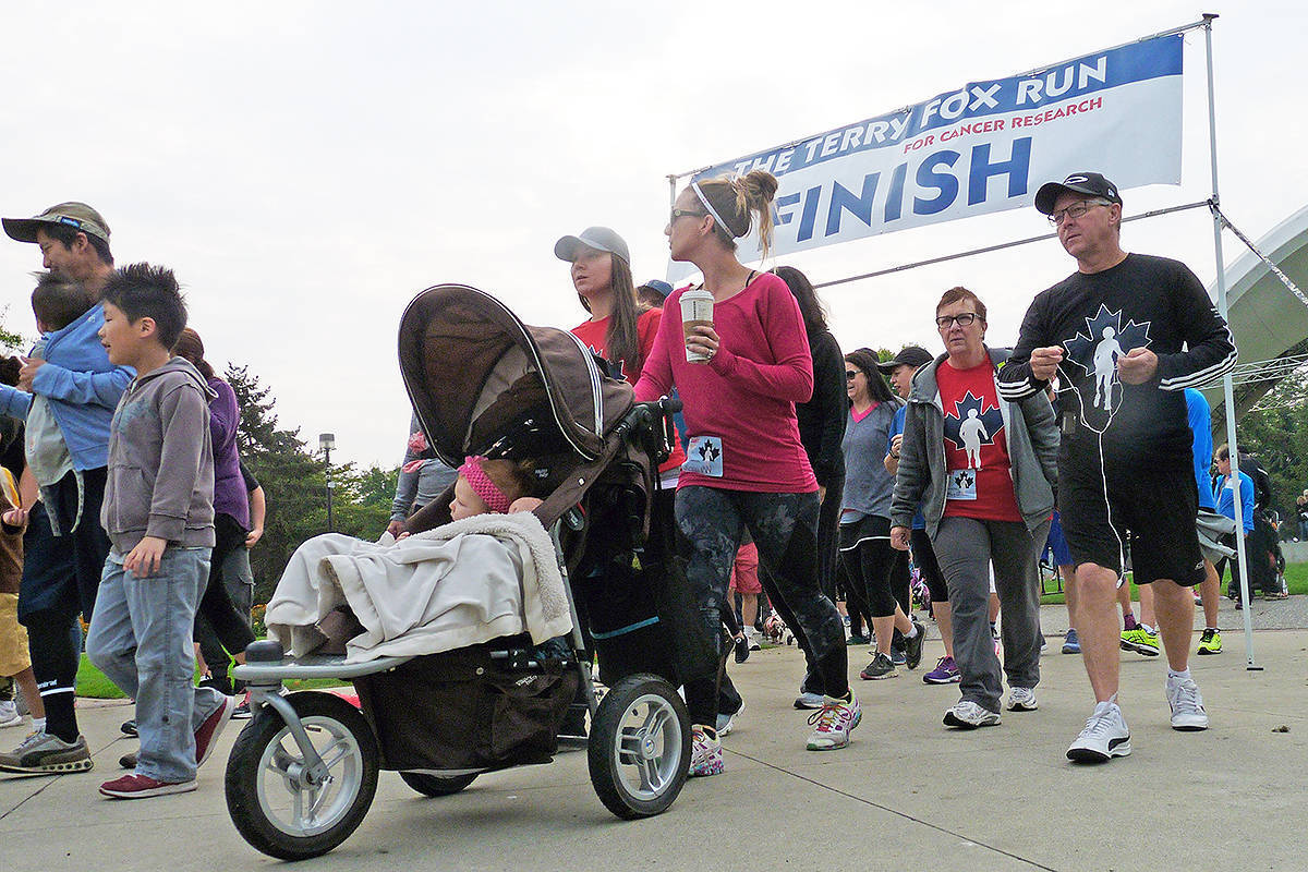 There are 112 runs that are happening around the province, according to Donna White, provincial director of the Terry Fox Foundation, and Langley will have three communities where people can participate. (Langley Advance Times files)