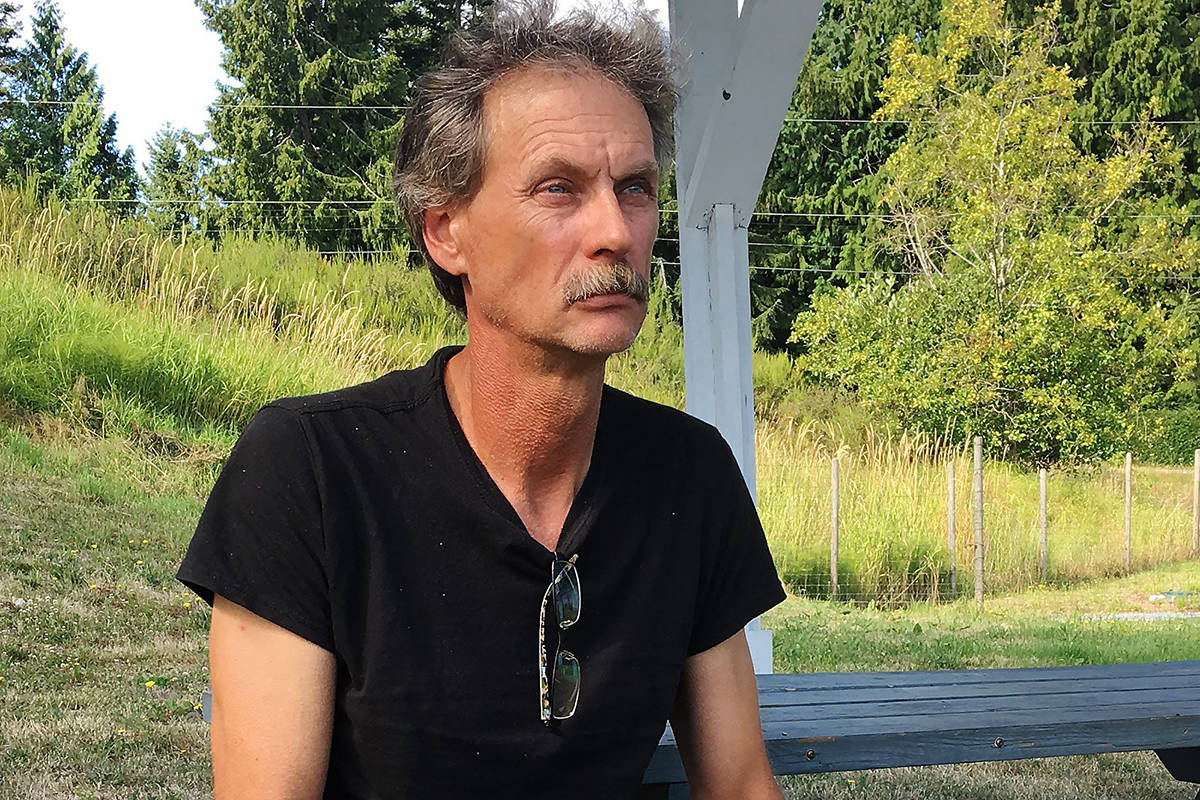 Alan Schmegelsky, father of Bryer Schmegelsky, poses for a photo during an interview with The Canadian Press in Mill Bay B.C. on Wednesday, July 24, 2019. RCMP have said that 19-year-old Kam McLeod and 18-year-old Bryer Schmegelsky are suspects in the shooting of Lucas Fowler of Sydney, Australia, his girlfriend Chynna Deese of Charlotte, N.C., and the death of another man who has yet to be identified publicly. THE CANADIAN PRESS/Laura Kane
