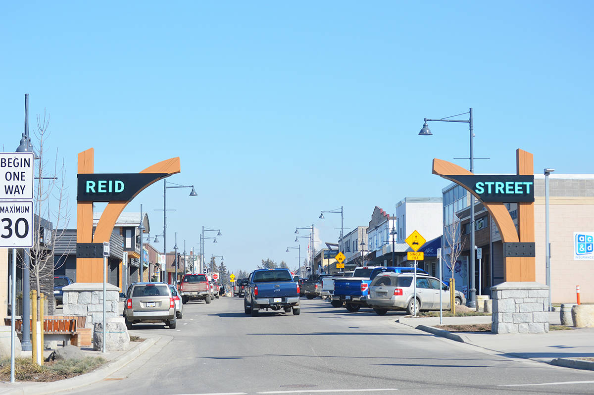 Restrictions on activities such as panhandling as well as sitting and lying on public streets are being considered for certain areas of the downtown core as part of the amendments to the City of Quesnel's nuisance bylaw. (Observer file photo)