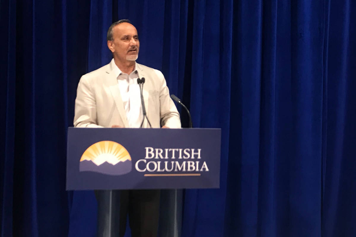 Surrey-Newton MLA Harry Bains announcing $9.8 million in funding for arts groups in B.C. on Sept. 6. (Photo: Lauren Collins)