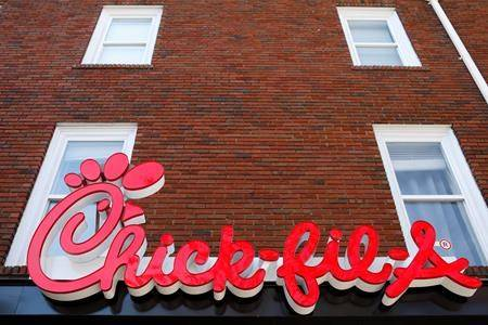In this Oct. 30, 2018 file photo, Athens newest Chick-fil-A signage is set to open in downtown, Athens, Ga. THE CANADIAN PRESS/AP-Joshua L. Jones/Athens Banner-Herald via AP