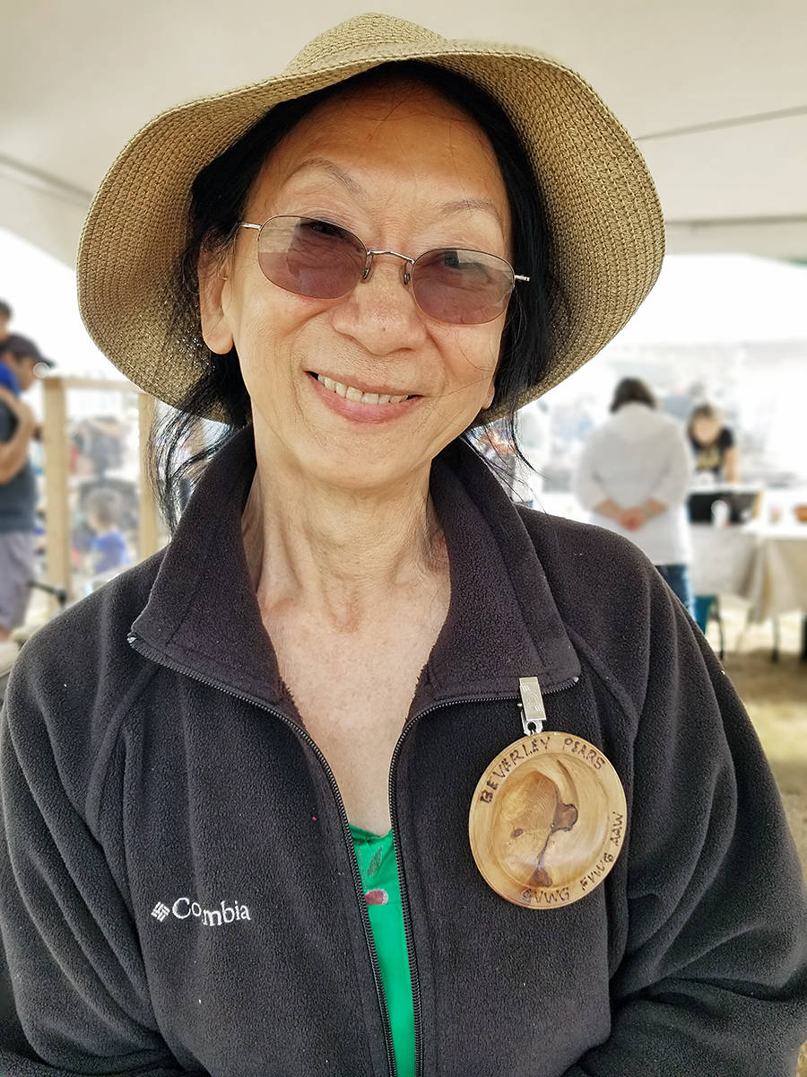 Langley resident Beverly Pears gave up being a realtor to become a full-time carver. She is a member of the Fraser Valley Woodturners Guild, which is a regular participant at the Country Celebration held in Campbell Valley Regional Park. (Dam Ferguson/