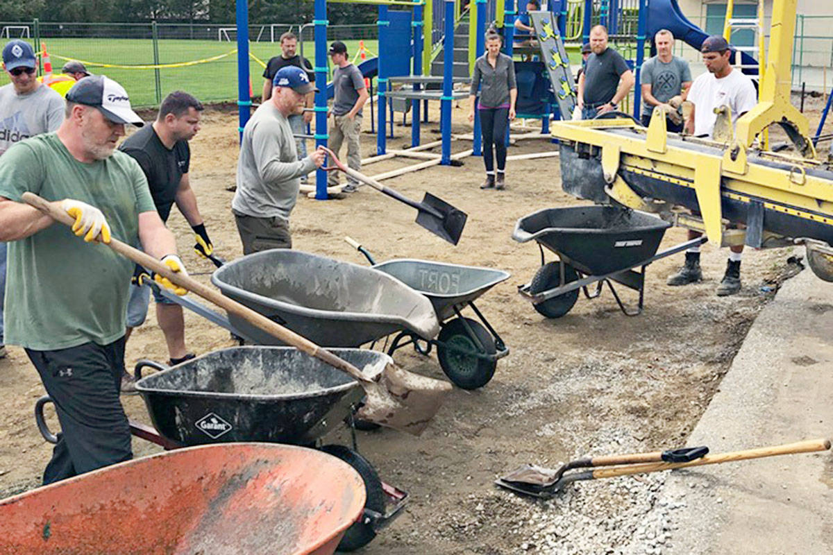 The new playground equipment was installed at Dorothy Peacock Elementary in late August and the grand opening was Sept. 6. (Dorothy Peacock Elementary PAC photo)