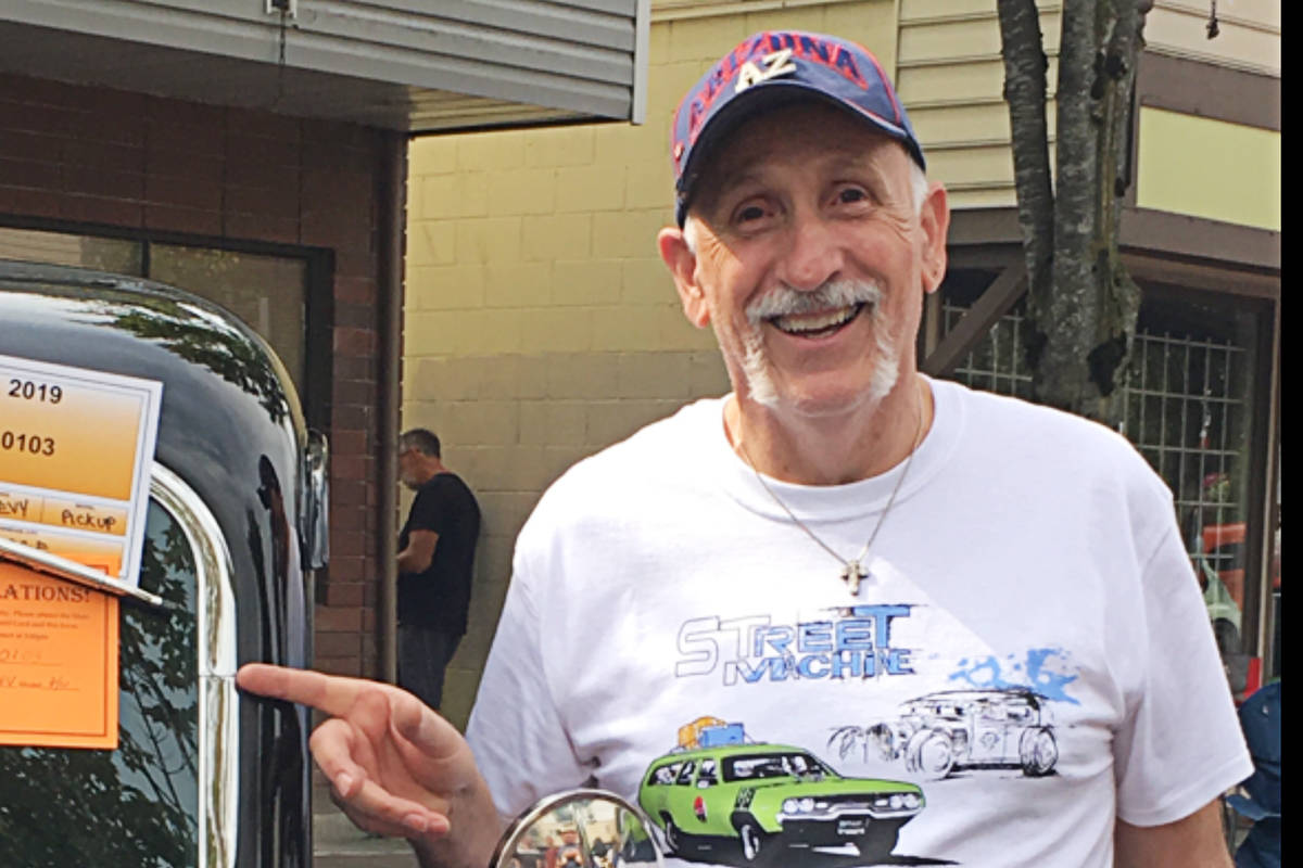 David Roberge lost the cross, pictured, that contains his son's ashes at Saturday's Langley Good Times Cruise-In in Aldergrove. He's hoping someone found it and can return it.