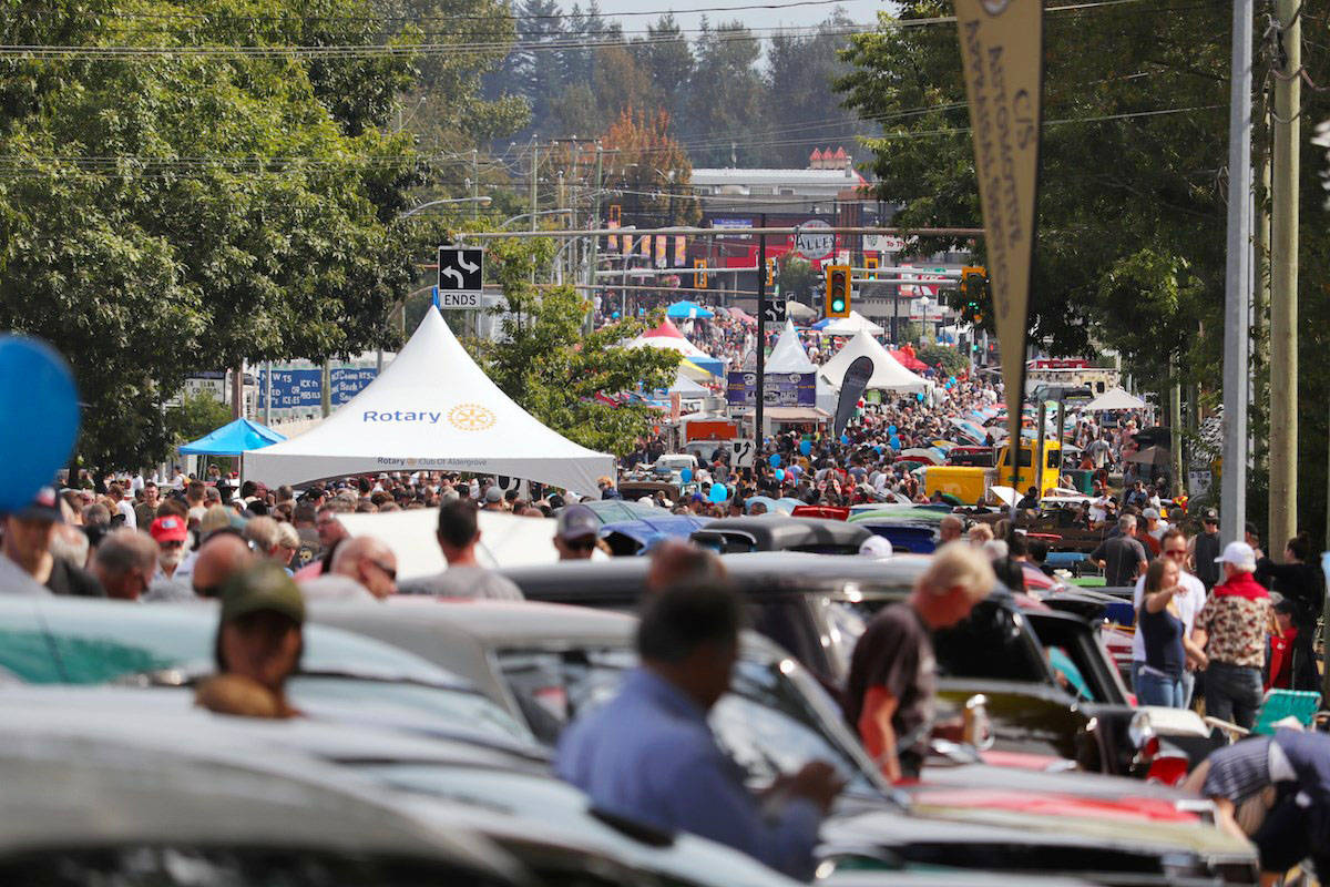 Aldergrove's biggest event of the year the Langley Good Times Cruise-In, brought thousands upon thousands to line the streets and admire an upwards of 1,300 cars on display at the charity car show. (Rob Wilton photo)