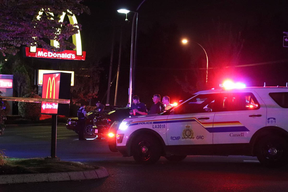 One person was killed in a shooting at a Aldergrove McDonald's late Tuesday night. (Shane MacKichan)