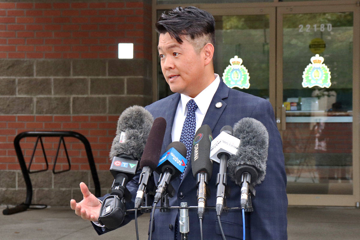 Integrated Homicide Investigation Team Sgt. Frank Jang said the shooting at 264 Street and 56 Avenue around 8 p.m. was targeted (Sarah Grochowski photo)