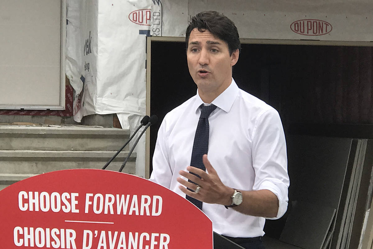 Prime Minister Justin Trudeau promises added incentives to the First-Time Home Buyers Incentive program, which provides Canadians up to 10 per cent off the purchase of their first home. (Kendra Crighton/News Staff)