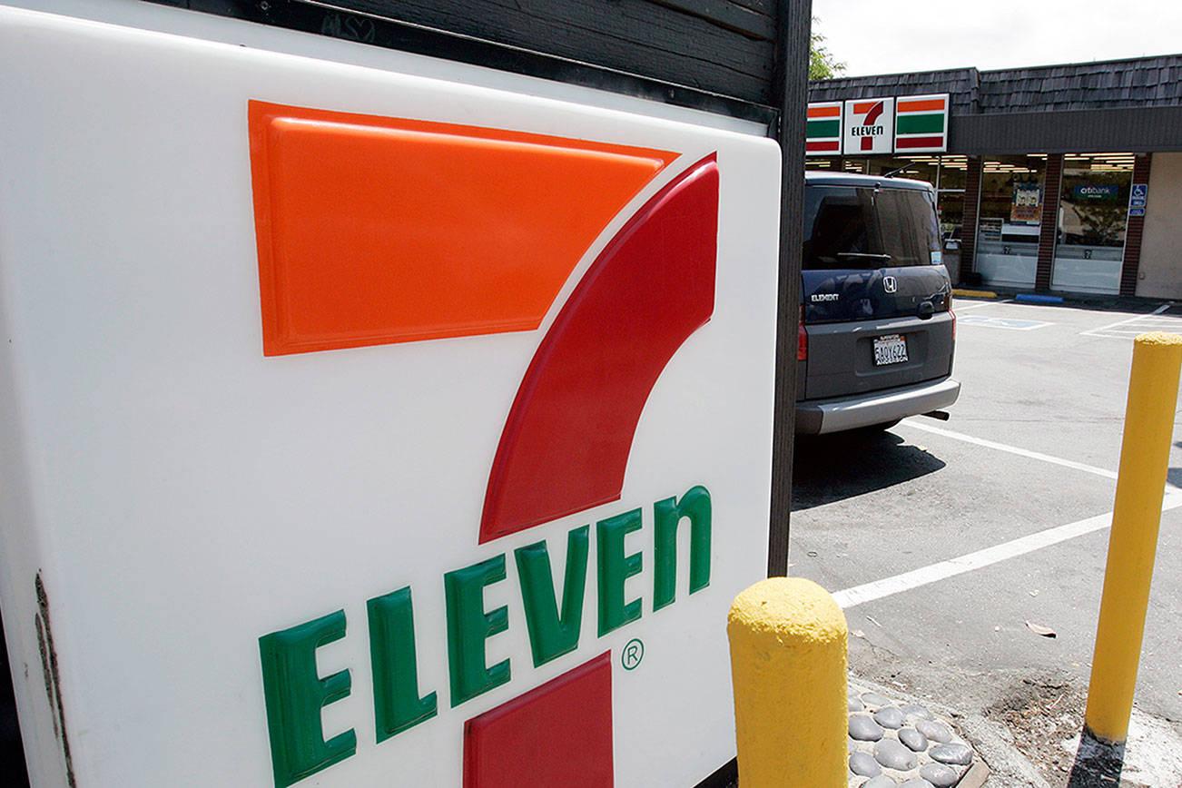 FILE - In this July 1, 2008 file photo, a 7-Eleven is shown in Palo Alto, Calif. (AP Photo/Paul Sakuma, File)