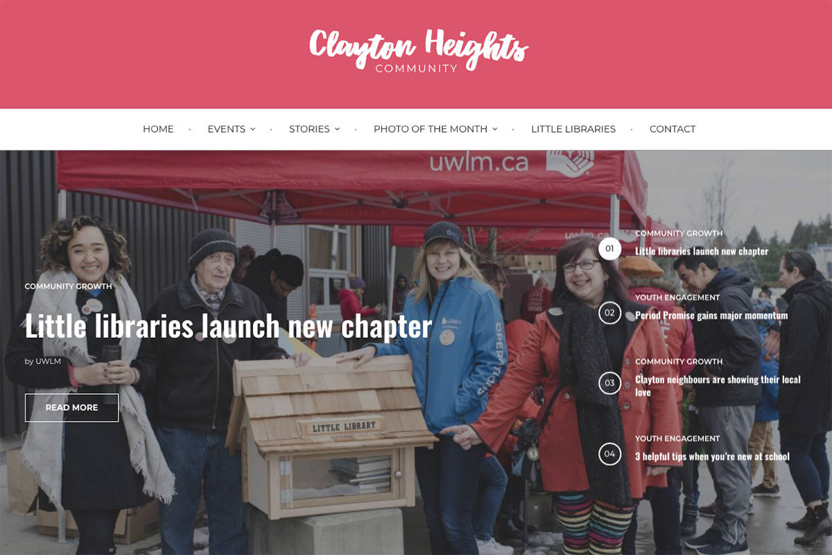 A new website aims to create positive change for the Clayton Heights neighbourhood of Cloverdale. (claytonheightscommunity.com)