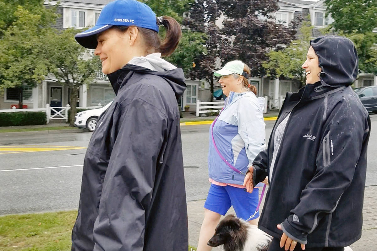 Wet weather did not deter participants in the annual Terry Fox Run in Walnut Grove on Sunday. (Dan Ferguson/Langley Advance Times)