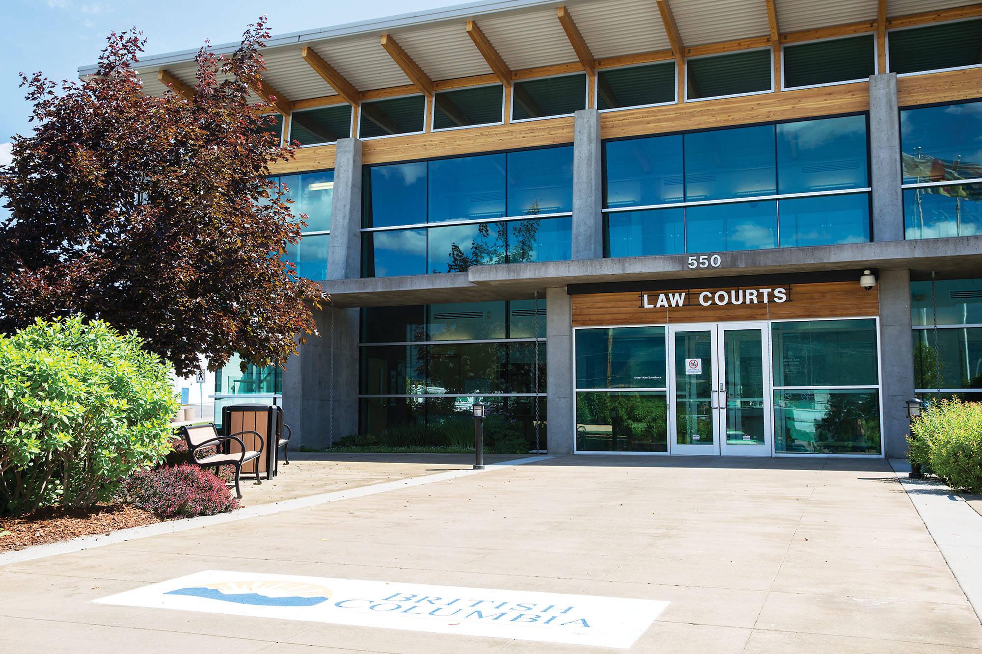 Salmon Arm Law Courts. (File photo)