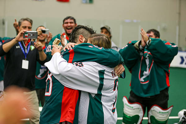 How a couple got engaged at the World Lacrosse Men's Indoor World Championship in Langley