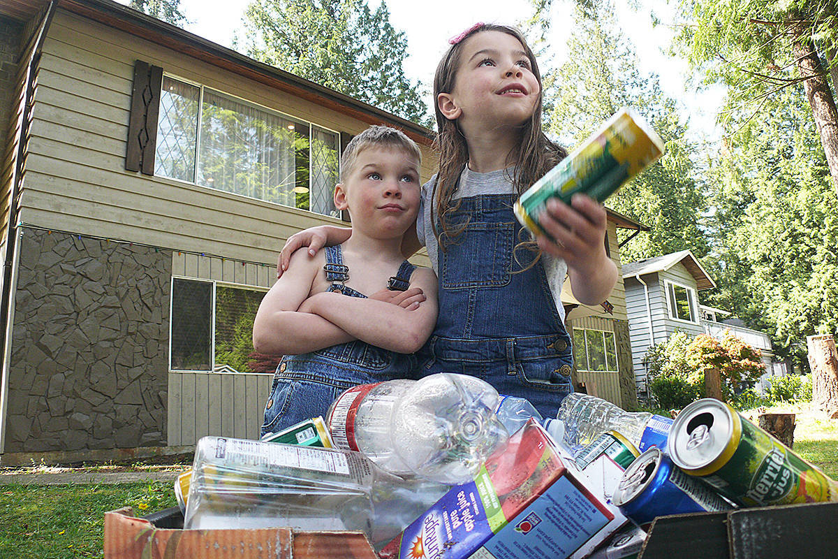 Brookswood siblings Barrett and Paisley have collected bottles to raise money for the Butterfly run, an event to remember children like their brother Wilder, who was stillborn. Dan Ferguson Langley Advance Times file photo