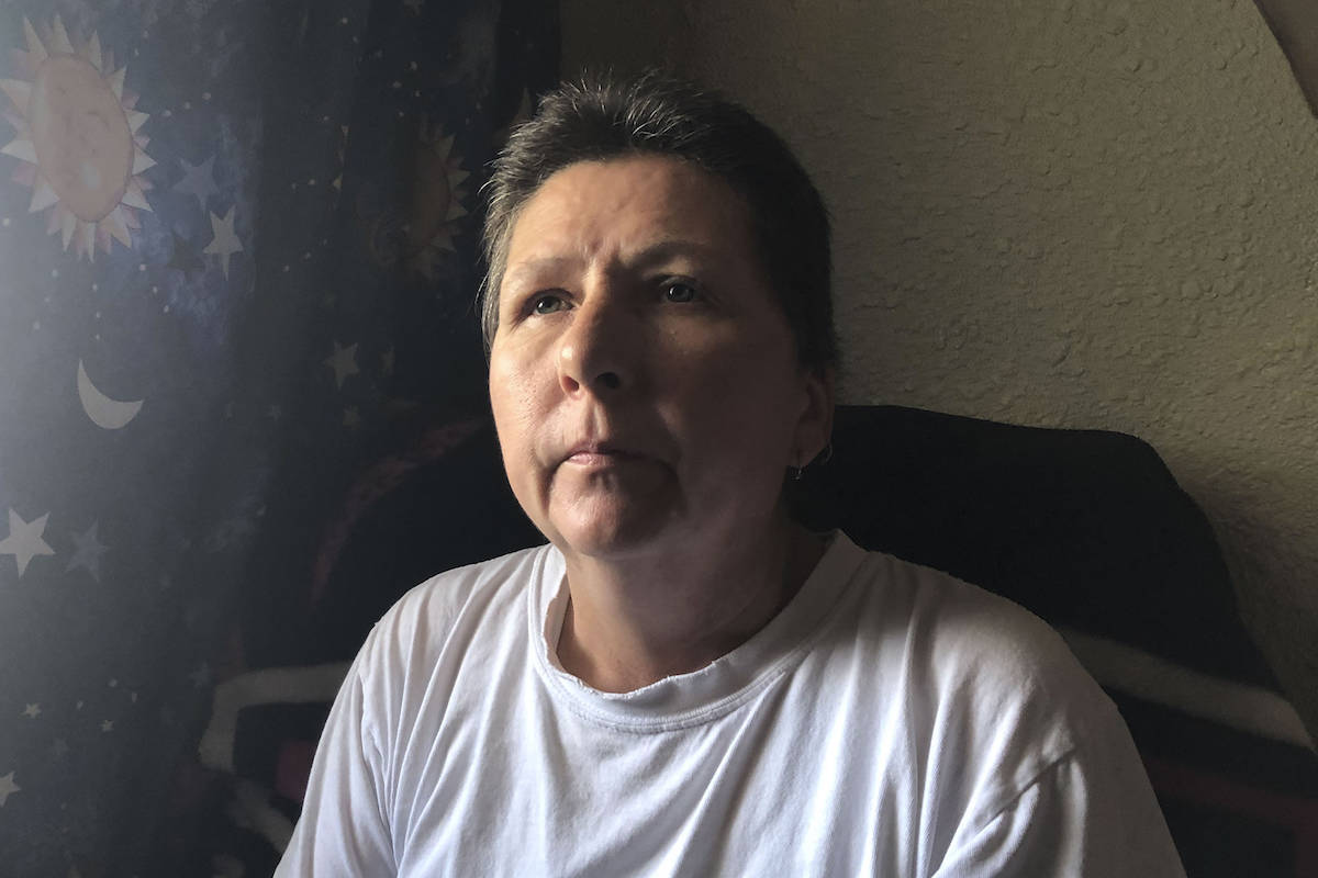 Cindy Bugaresti is a housekeeper at McGuire Lake Congregate Living who says that come Tuesday, Oct. 1, she will be living out of her truck. (Cameron Thomson/Salmon Arm Observer)